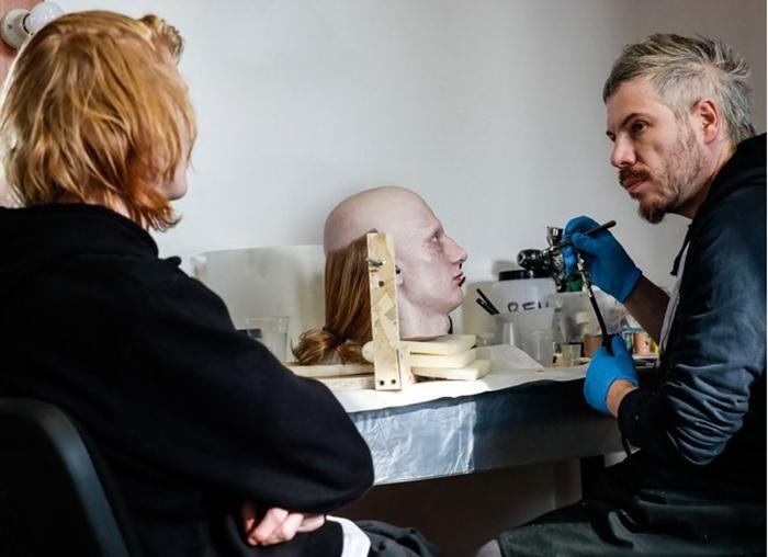 Процесс создания копии головы модели занял полгода.