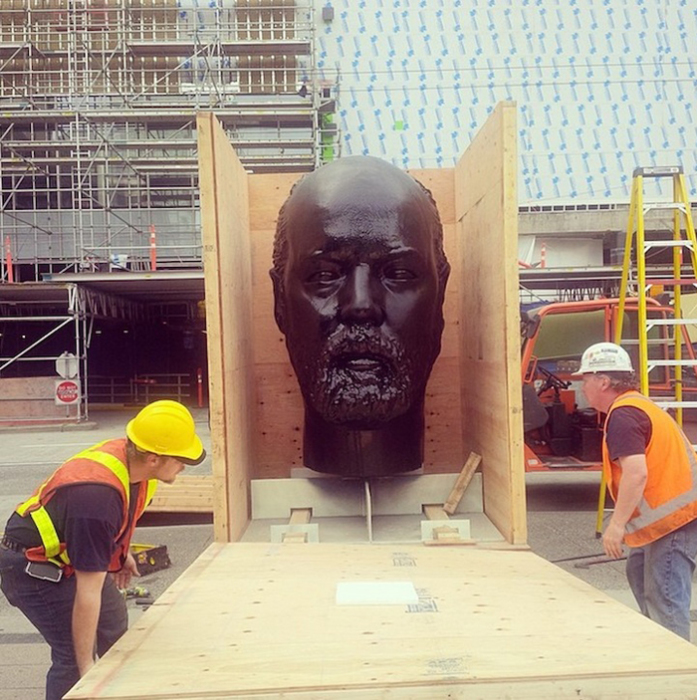 Вид скульптуры Gumhead в начале проекта.