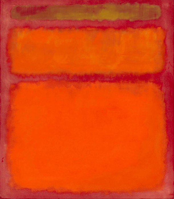*Orange, Red, Yellow* Mark Rothko.