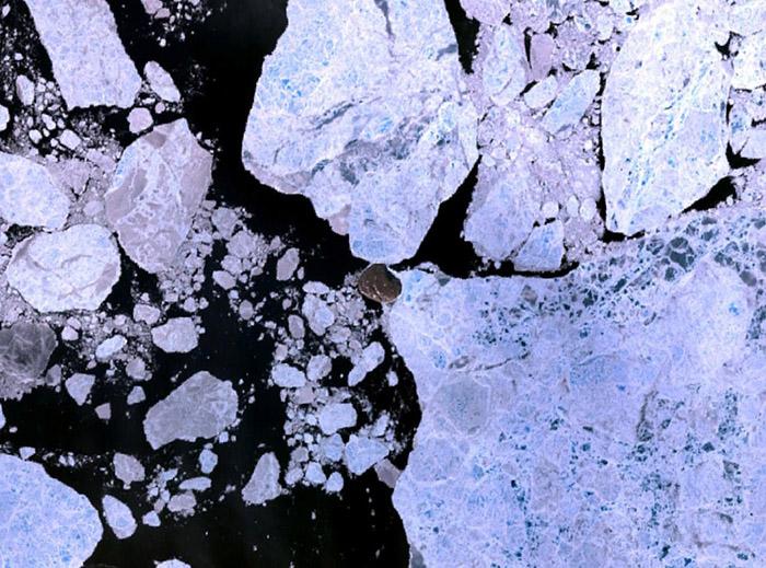 Остров Ганса среди льдов.