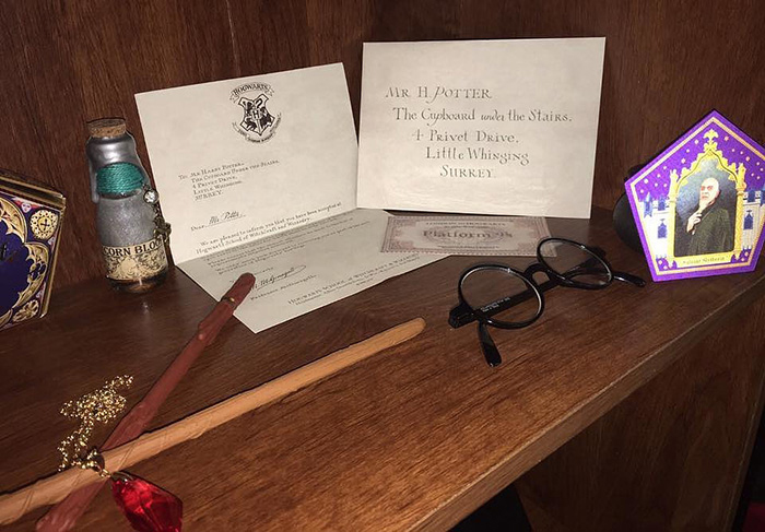 Письмо Гарри Поттеру и волшебные палочки.