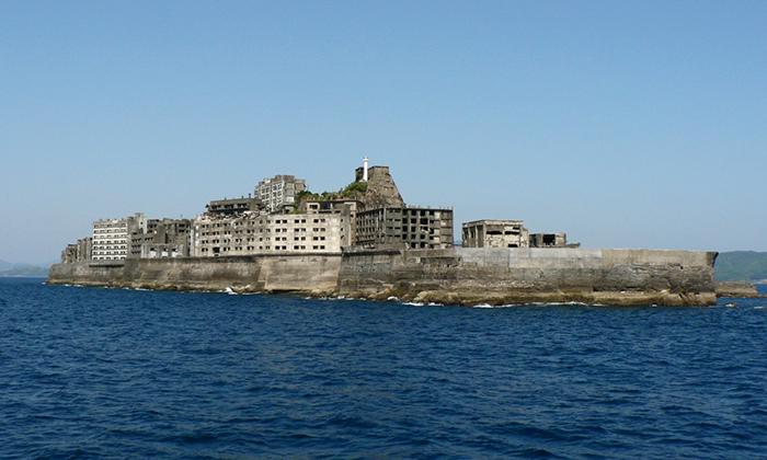 Японский остров Хасима.