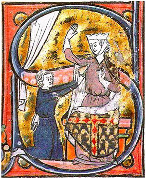 Самое раннее изображение символа сердца, середина XIII века.