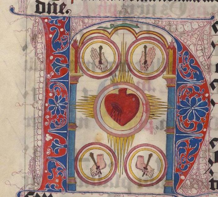 Изображение сердца, XV век.