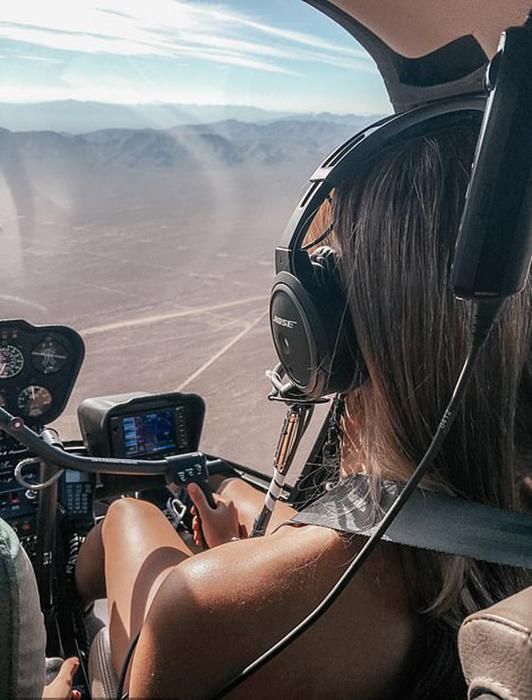 Прежде чем решиться получить лицензию пилота вертолета, Луана получила высшее экономическое образование.
