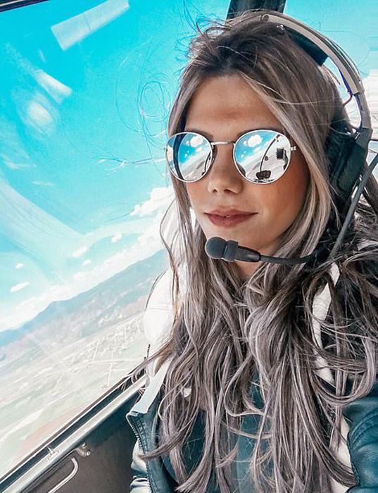 Луана рассказывает, что девушек в авиации по-прежнему немного, и если есть, они обычно идут управлять самолетами.