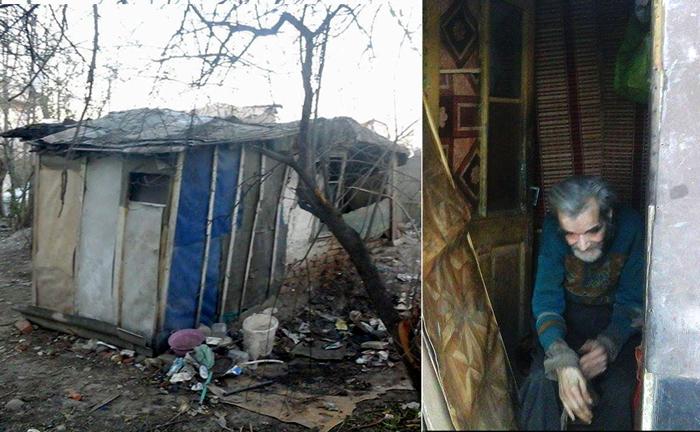 Старик жил почти 10 лет в старом доме, в котором все разваливалось на части.