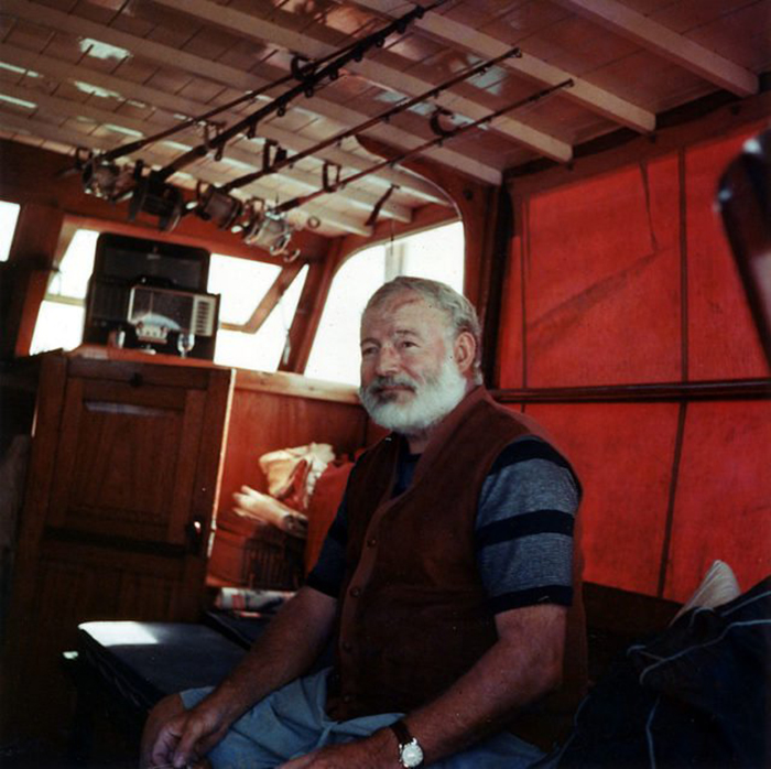 Эрнест Хемингуэй на Кубе.
