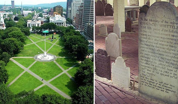 Кладбище под центральной площадью.