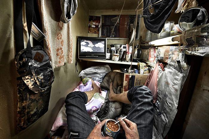 Эта квартира всего 1,4 кв.м. Фото: Benny Lam.
