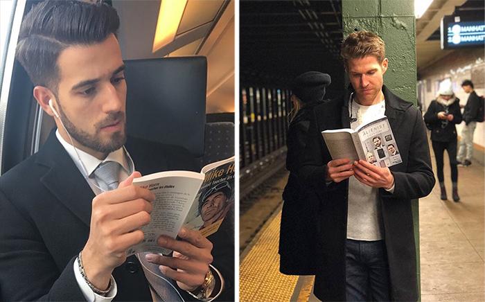 Горячие парни с книгами.