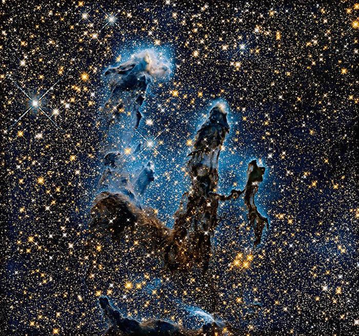 Позиция: 18h 18m, –13°, 49', расстояние от Земли: 6,500 св.лет, прибор/год: WFC3/IR, 2014.