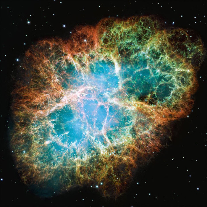 Позиция: 05h 34m, +22�, 00', расстояние от Земли:  6,500 св.лет, прибор/год: WFPC2, 1999, 2000.