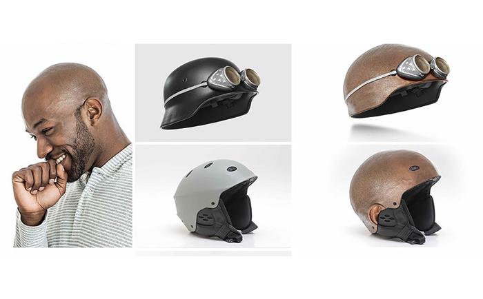 Варианты велосипедных шлемов.