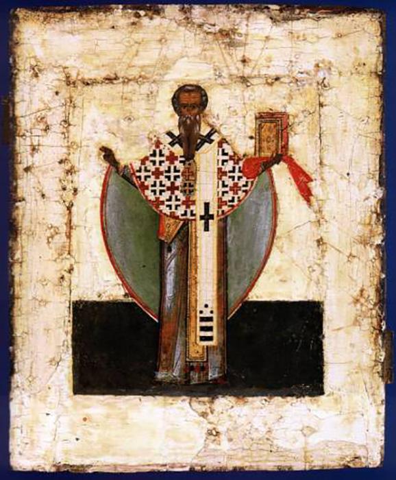 Святой Иаков брат Господень 16 век. Новгород.