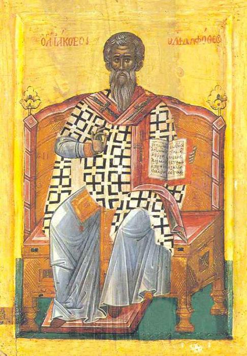 Православная икона святого Иакова, брата Господня.