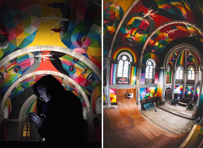 Преображения старой церкви в Астурии.
