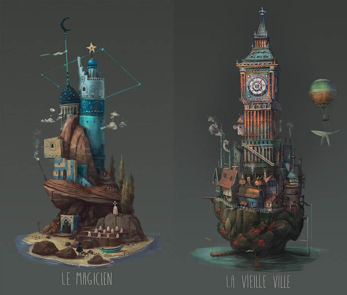 Удивительные острова от французского художника.