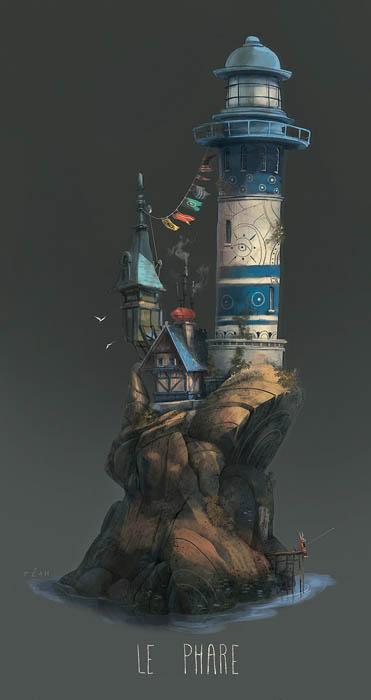 На острове есть место и маяку, и маленьким жителям.