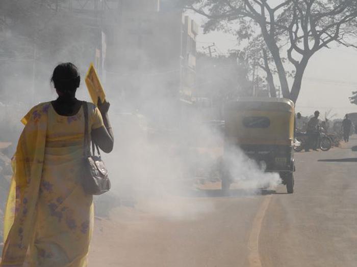 Проблема с загрязнением воздуха в Индии.