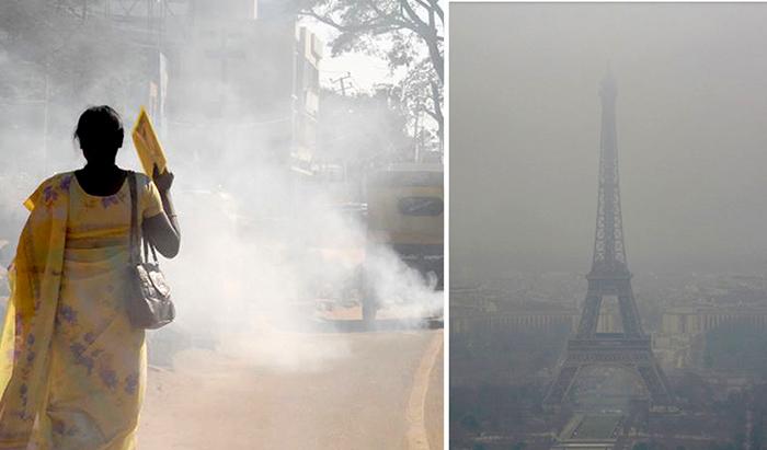Загрязнение воздуха по всему миру.