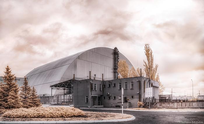 Новый чернобыльский саркофаг.  Фото: Vladimir Migutin.