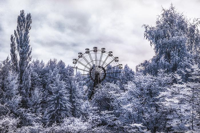 26-метровое колесо обозрения в Припяти.  Фото: Vladimir Migutin.
