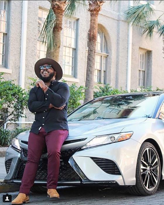 Кельвин в рекламе Toyota. Instagram @notoriouslydapper.