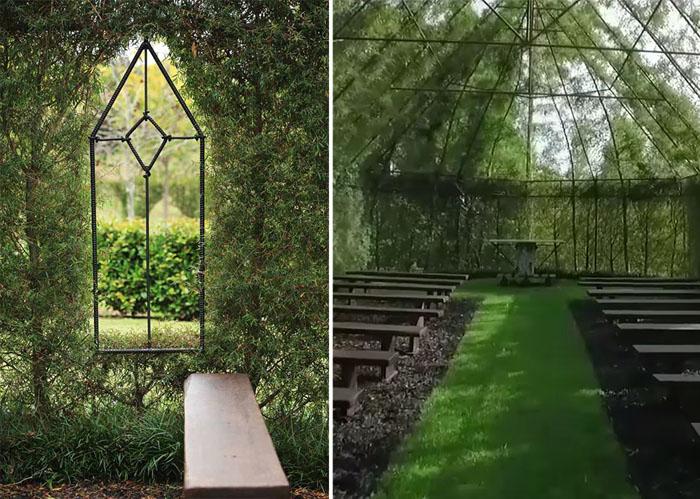 Церковь для 100 посетителей. Каркас сделан из металла.