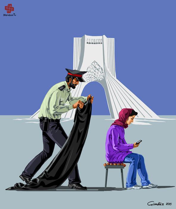 Иран известен своими строгими законами по отношению к поведению женщин.