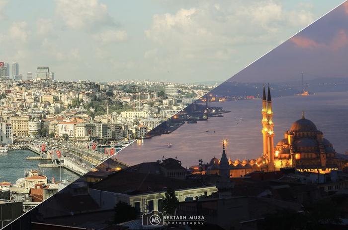 Вид сверху на Стамбул.  Фото: Bektash Musa.