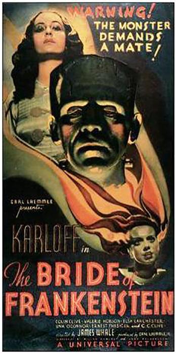 Плакат фильма *Невеста Франкенштейна* (1935).
