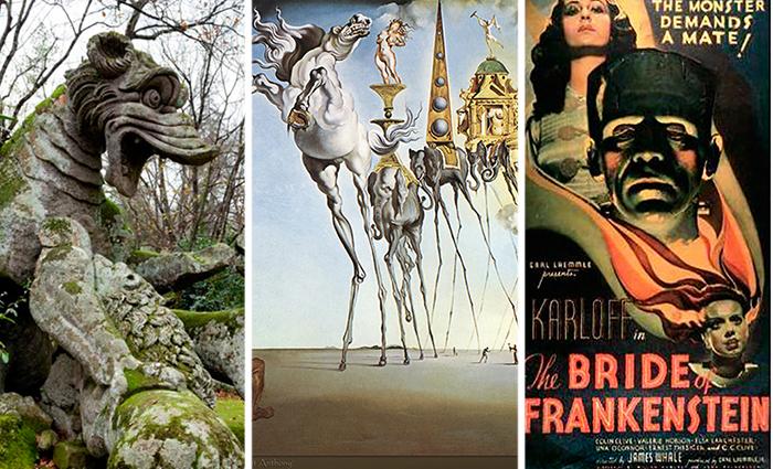 Чудовища в скульптуре, живописи и кинематографе.