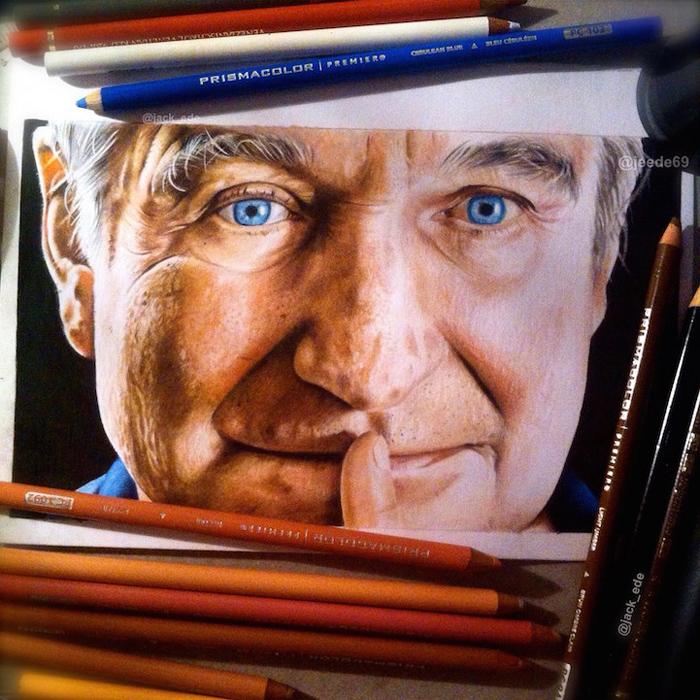 Робин Уильямс - рисунок Джека Ида.