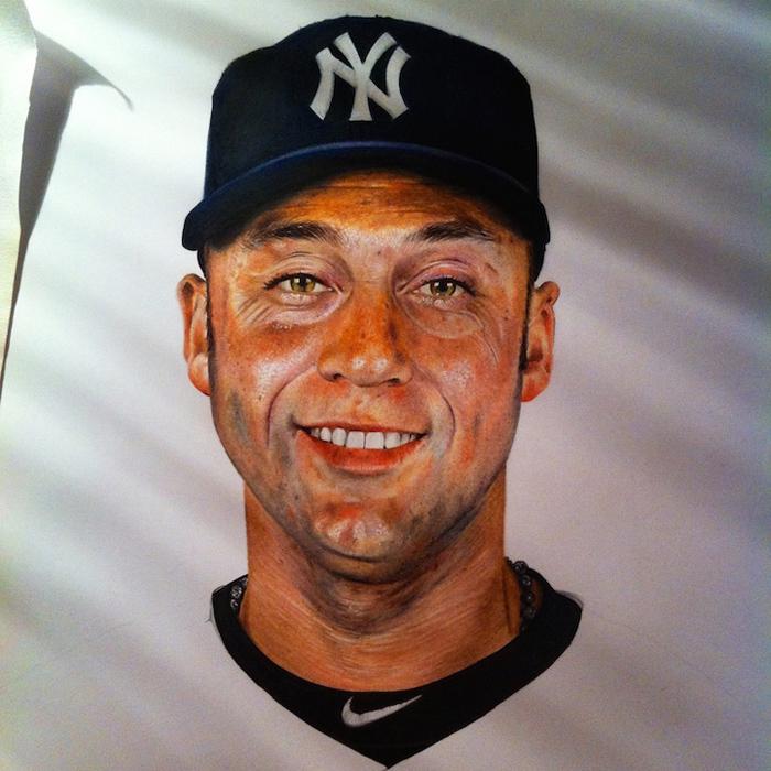 Derek Jeter - портрет Джека Ида.