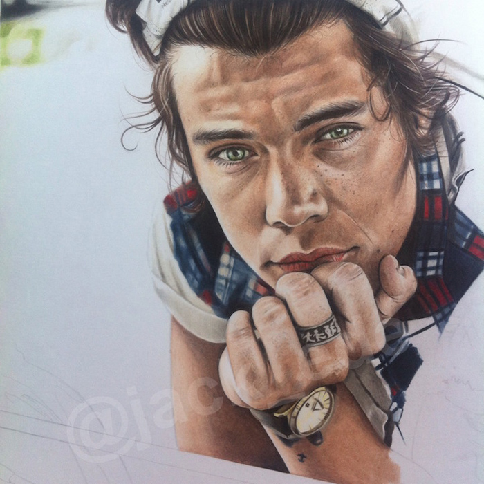 Портрет Harry Styles.
