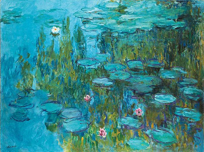 Клод Моне *Водяные лилии* ок.1915 г. Сейчас находится в Пинакотеке, Мюнхен.