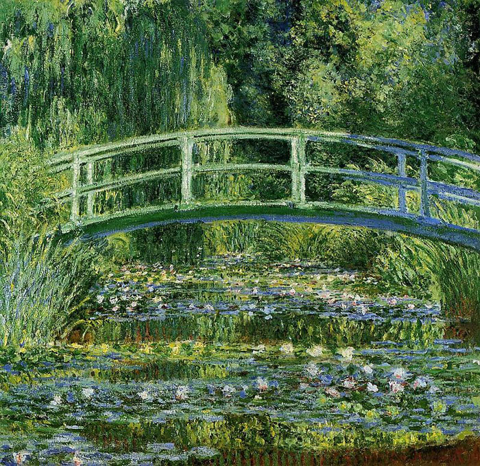 Клод Моне *Водяные лилии и японский мостик*, 1897-99гг.