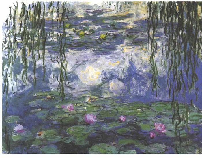 Клод Моне *Водяные лилии*, ок. 1915 г. Сейчас находится в музее Моне.