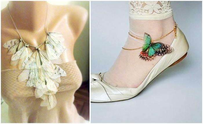 Украшения с бабочками от Jewelera.