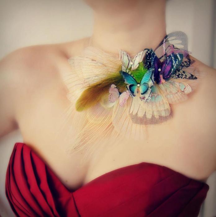 Элегантное украшение на шею. Автор: Jewelera.