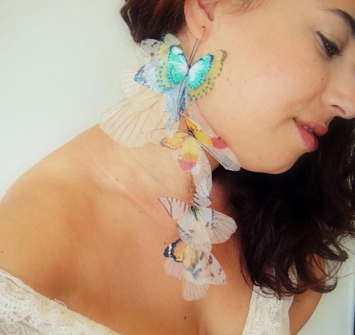 Бабочки как украшение. Автор: Jewelera.