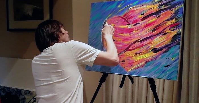 В своих картинах Джим делает акцент не столько на сюжете, сколько на сочетании цветов.