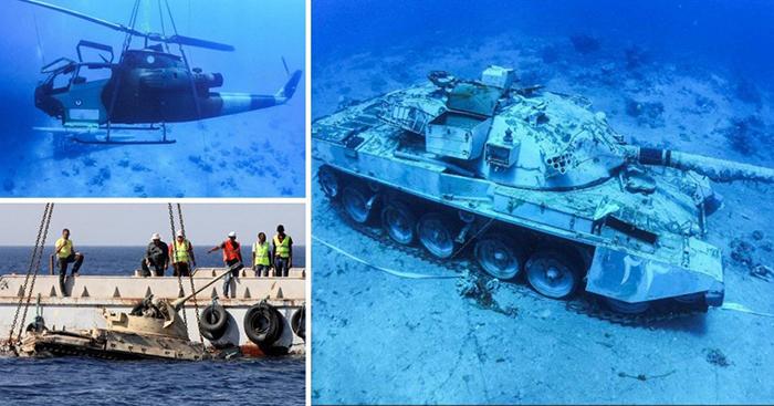 Подводный музей в Иордании.