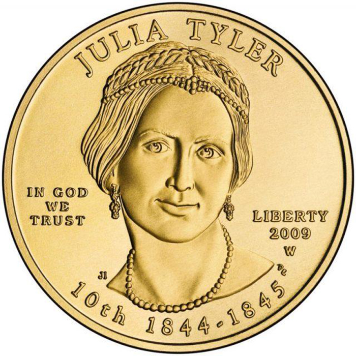 Монета с Джулией Тайлер.