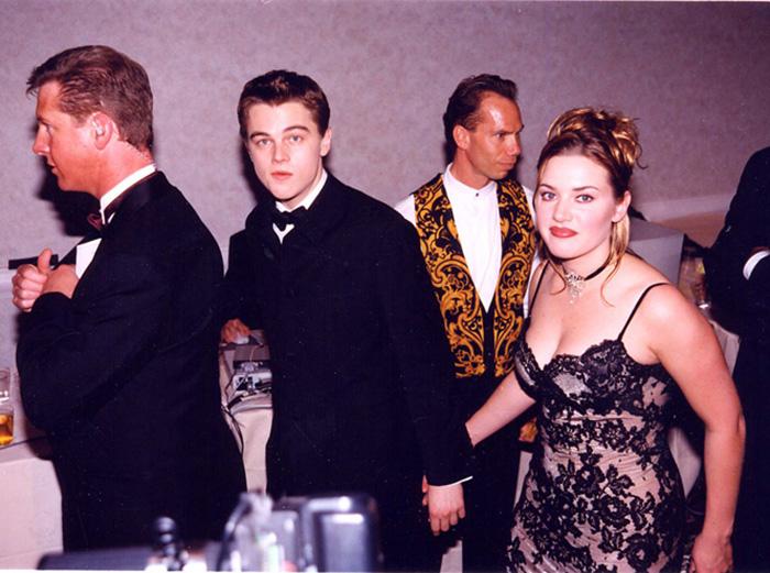 Кейт и Лео после выхода фильма *Титаник*.