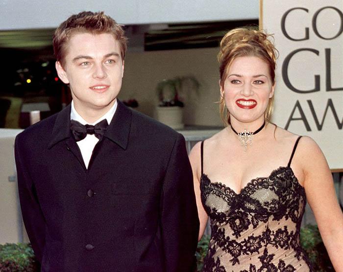 Лео и Кейт после съемок *Титаника*.