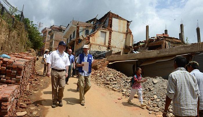 Ужасные последствия землетрясения в Непале.