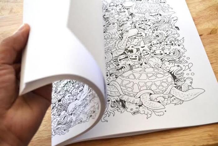 50 иллюстраций для раскраски.