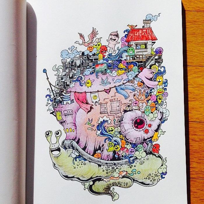 Книжка-раскраска для взрослых.